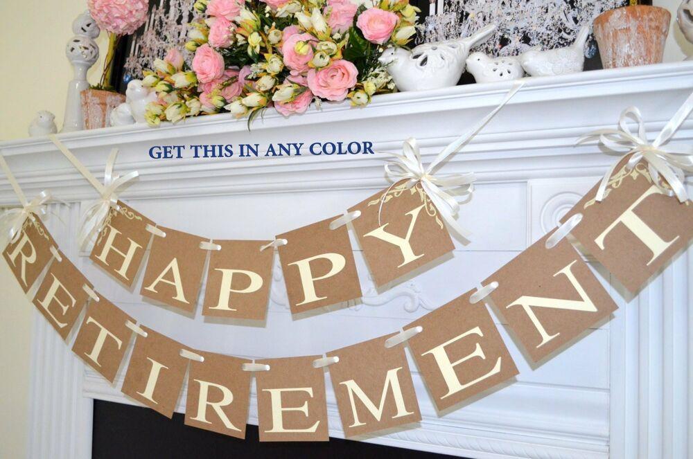 Happy Retirement Party Ideas  Retirement Decorations Happy Retirement Banner