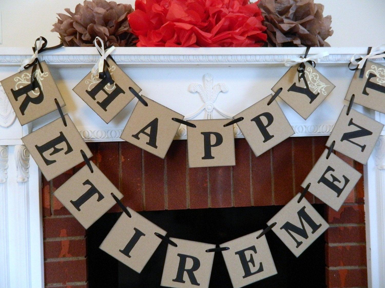 Happy Retirement Party Ideas  Happy Retirement Banner Retirement Decor Retirement Party