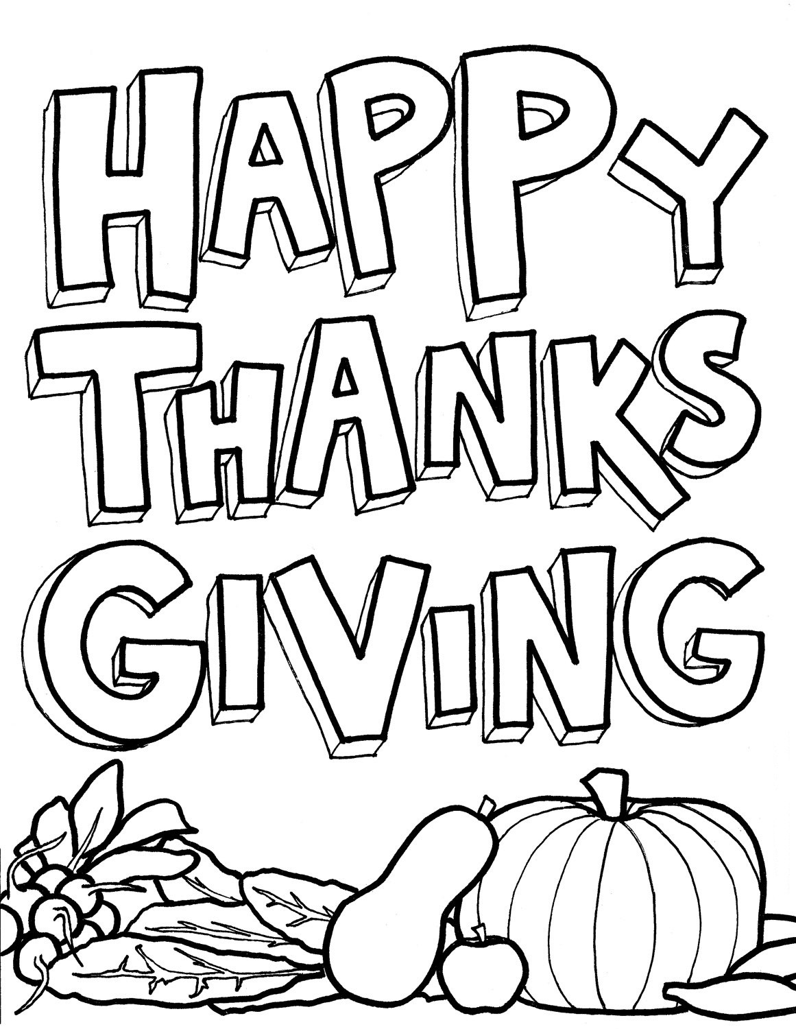 Happy Thanksgiving Coloring Pages For Boys  Thanksgiving Day Coloring Pages for childrens printable