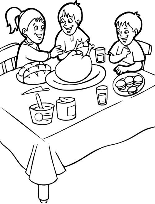 Happy Thanksgiving Coloring Pages For Boys  255 best images about Fall Coloring Pages on Pinterest