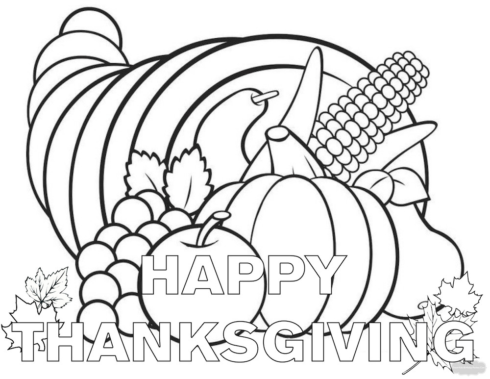 Happy Thanksgiving Coloring Pages For Boys  Thanksgiving Coloring Pages