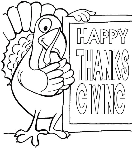Happy Thanksgiving Coloring Pages For Boys  Thanksgiving day coloring pages for kids school funny