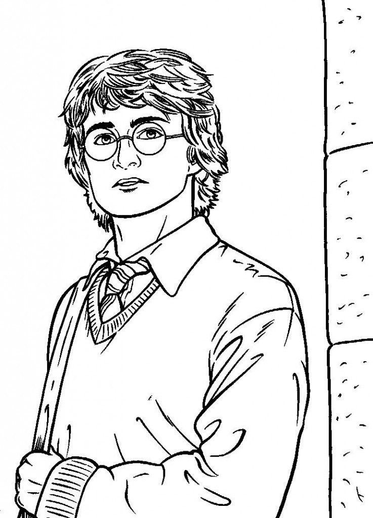 Harry Potter Coloring Pages To Print  Free Printable Harry Potter Coloring Pages For Kids