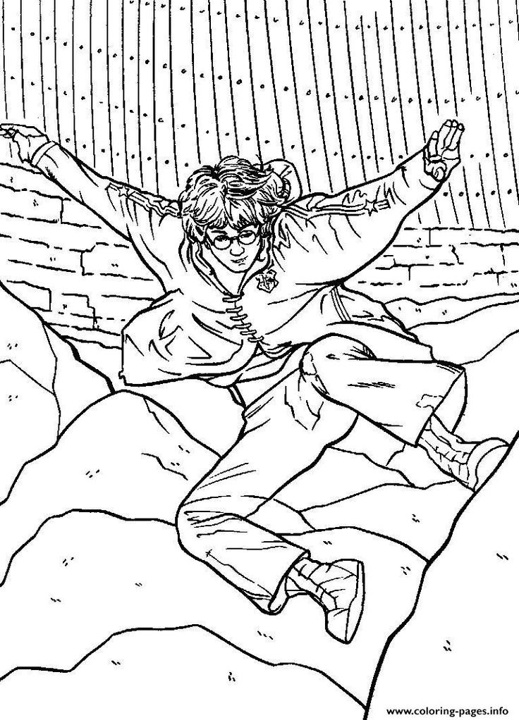 Harry Potter Coloring Pages To Print  224 best images about Color me pretty Harry Potter on