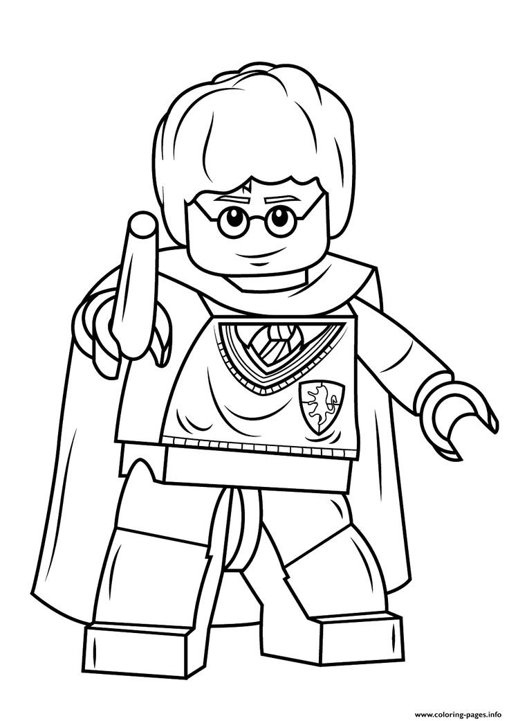 Harry Potter Coloring Pages To Print  25 best ideas about Lego harry potter on Pinterest