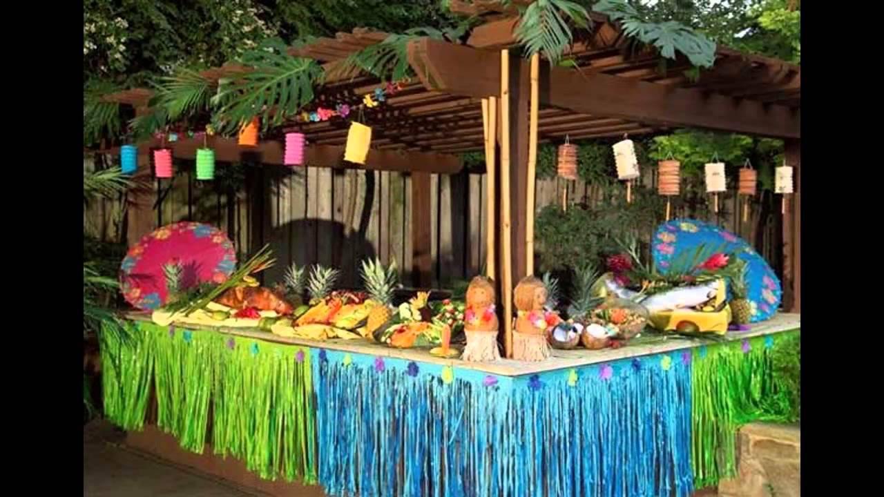Hawaiian Backyard Party Ideas  Colorful Hawaiian party decorations