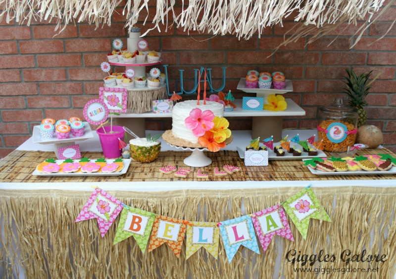 Hawaiian Backyard Party Ideas  Luau Birthday Party Giggles Galore