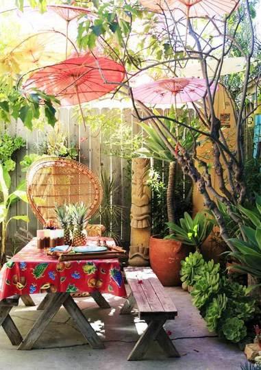 Hawaiian Backyard Party Ideas  HAPPINESS IS Home Decor