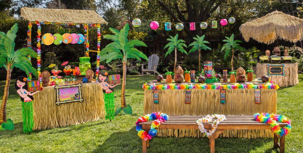 Hawaiian Backyard Party Ideas  Luau Decorations Party City
