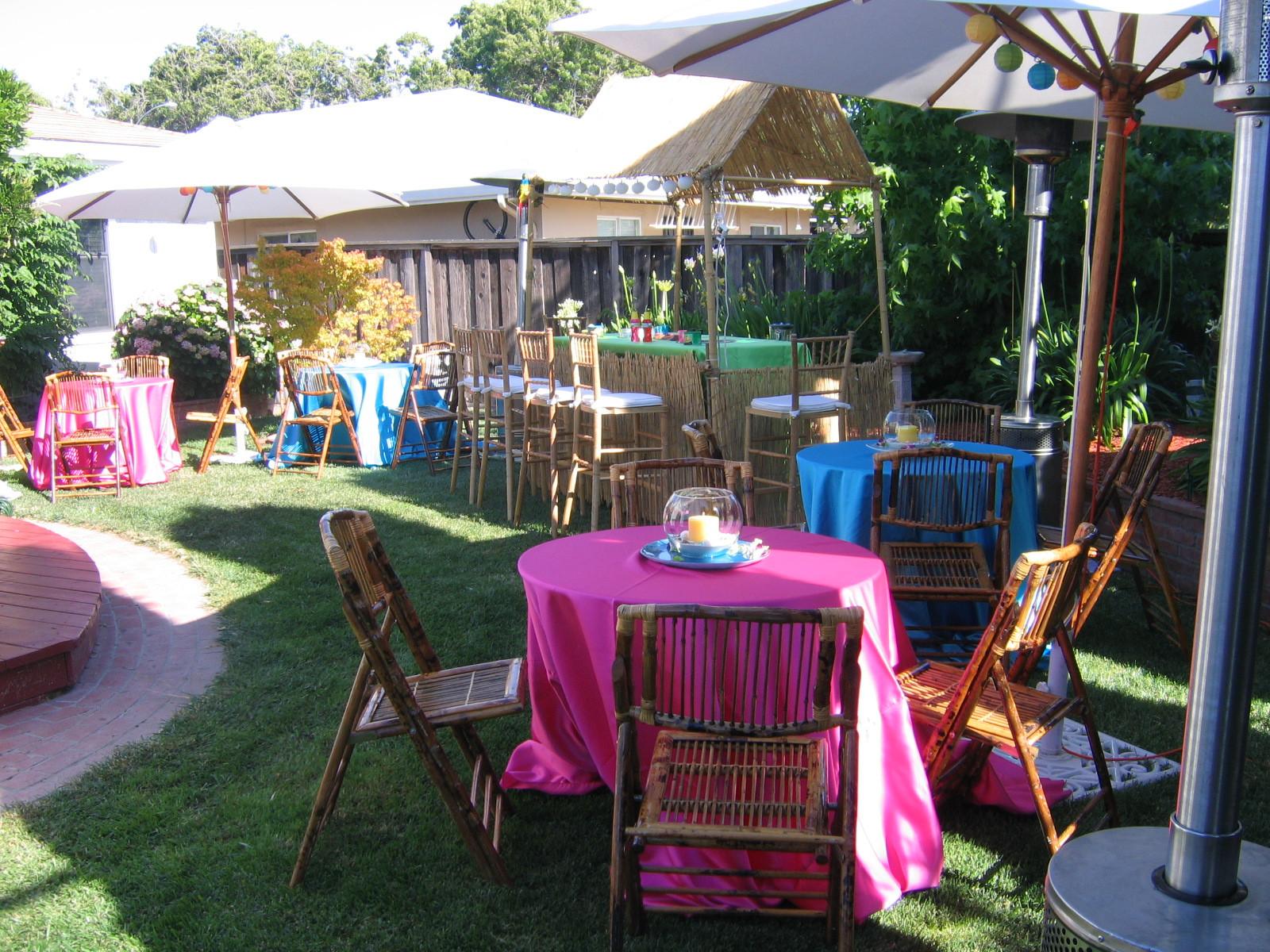 Hawaiian Backyard Party Ideas  In style party favors