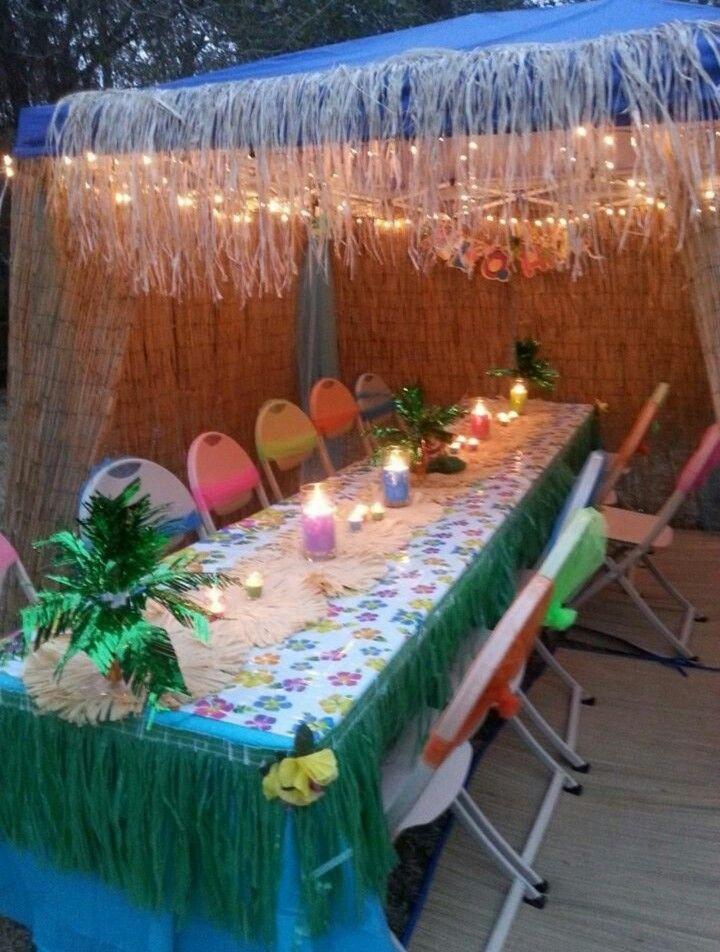 Hawaiian Backyard Party Ideas  25 best ideas about Luau table decorations on Pinterest