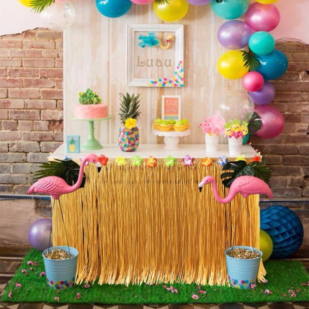 Hawaiian Backyard Party Ideas  OurWarm Hawaiian Party Decorations 275x75cm Artificial
