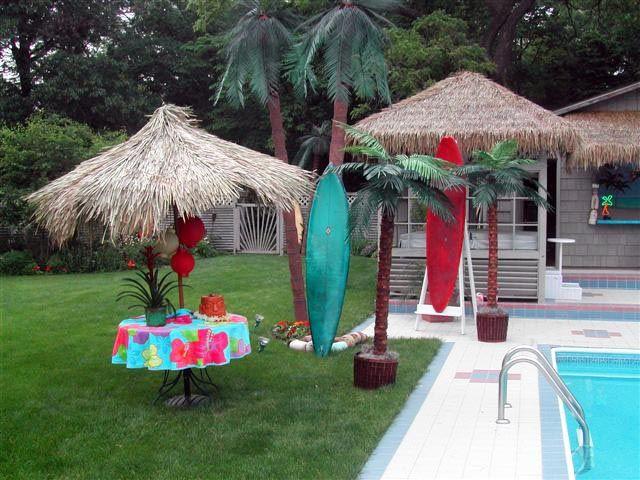 Hawaiian Backyard Party Ideas  Backyard Luau Let s Luau Pinterest
