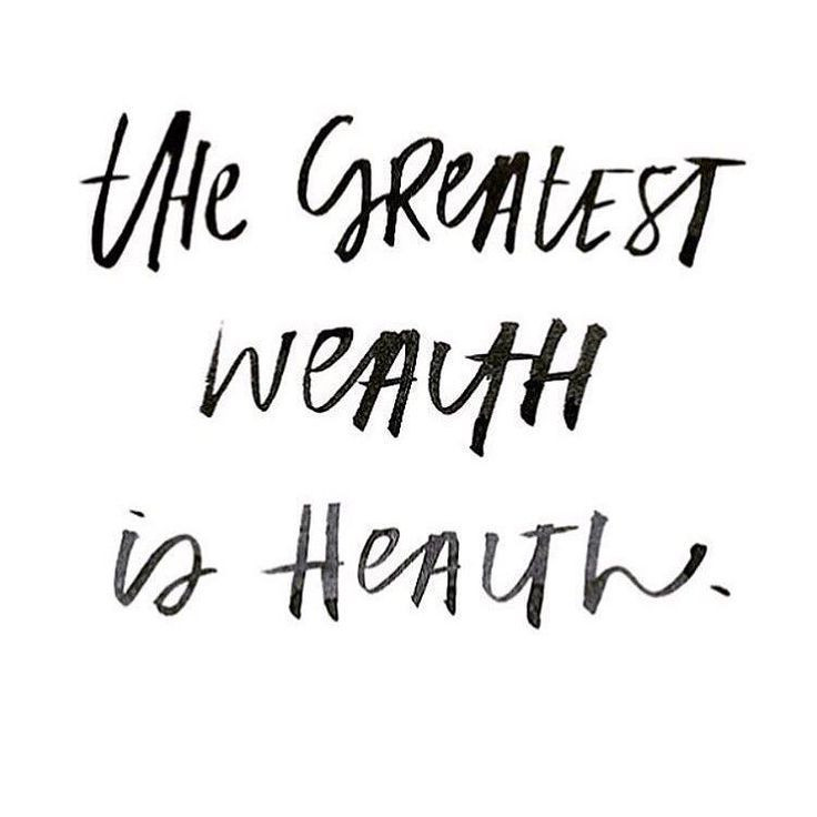 Health Inspirational Quotes  the greatest wealth is health inspirational
