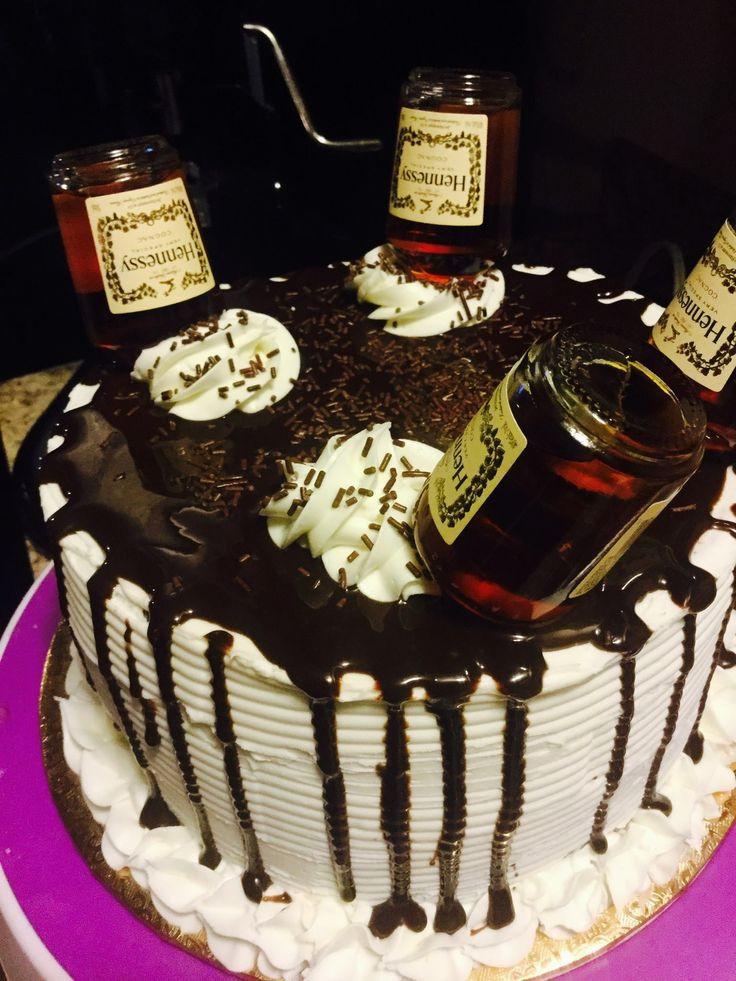 Hennessy Birthday Cake  Hennessy cake food Pinterest