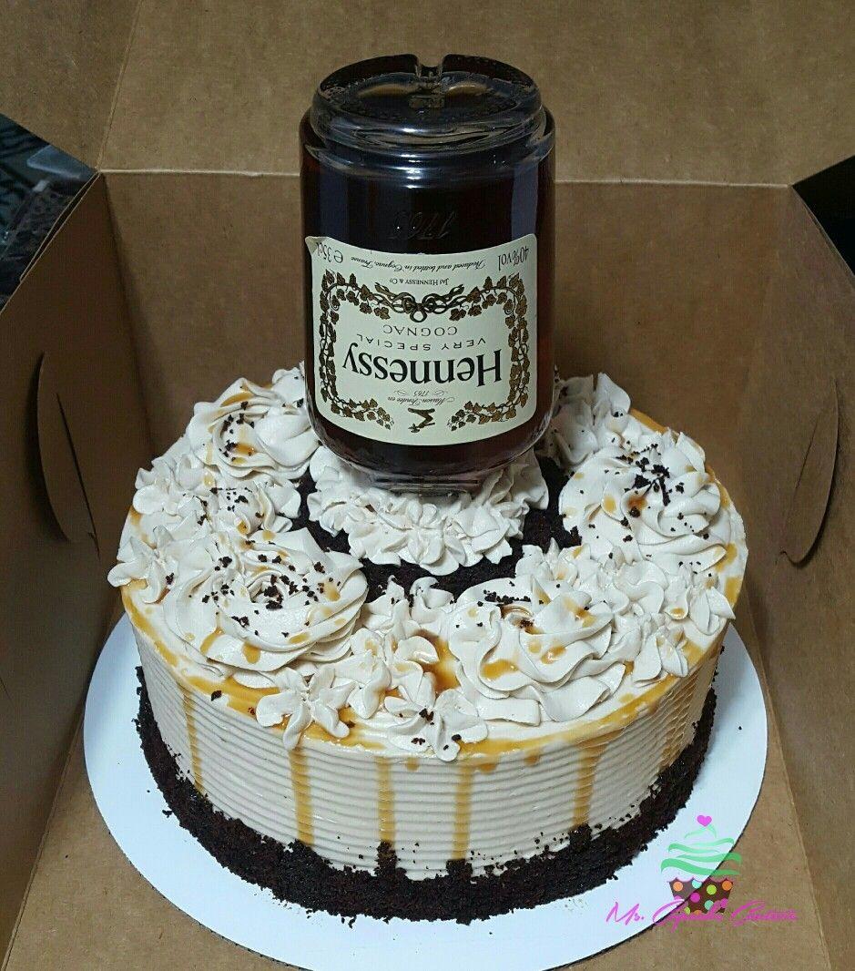 Hennessy Birthday Cake  Hennessy themed cake Cakes Pinterest