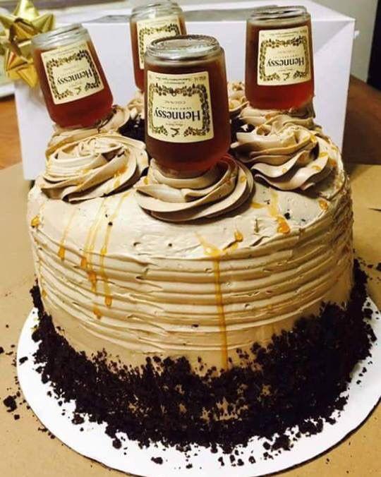 Hennessy Birthday Cake  Hennessy cake Desserts