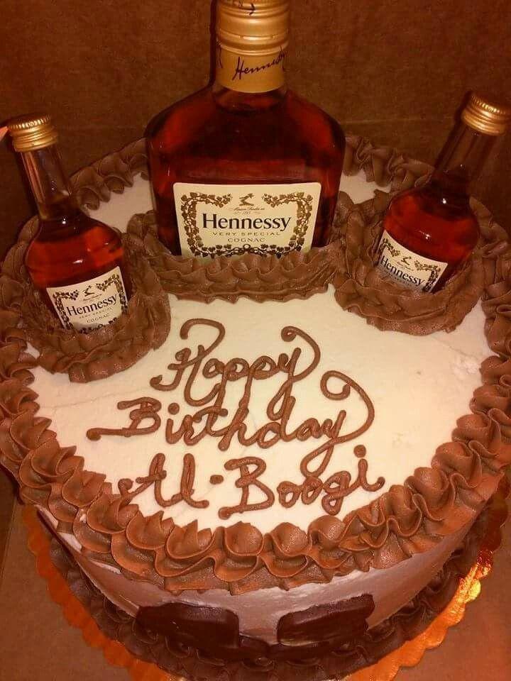 Hennessy Birthday Cake  Hennessy Cake Just for HIM Pinterest