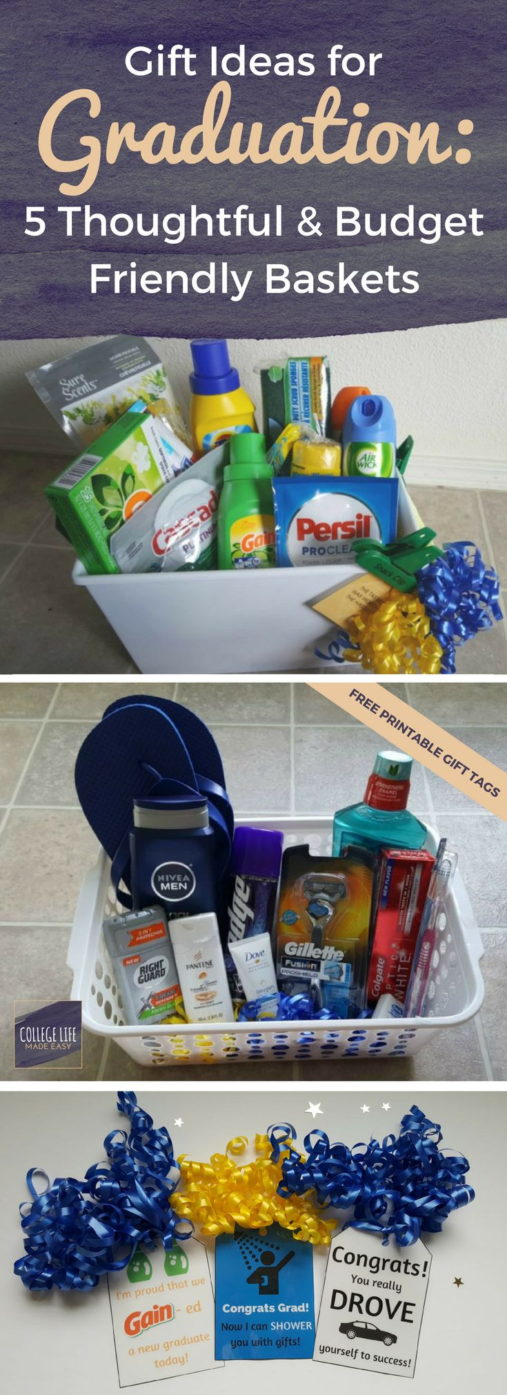 High School Graduation Gift Ideas For Her  High School College Graduation Gift Basket Ideas