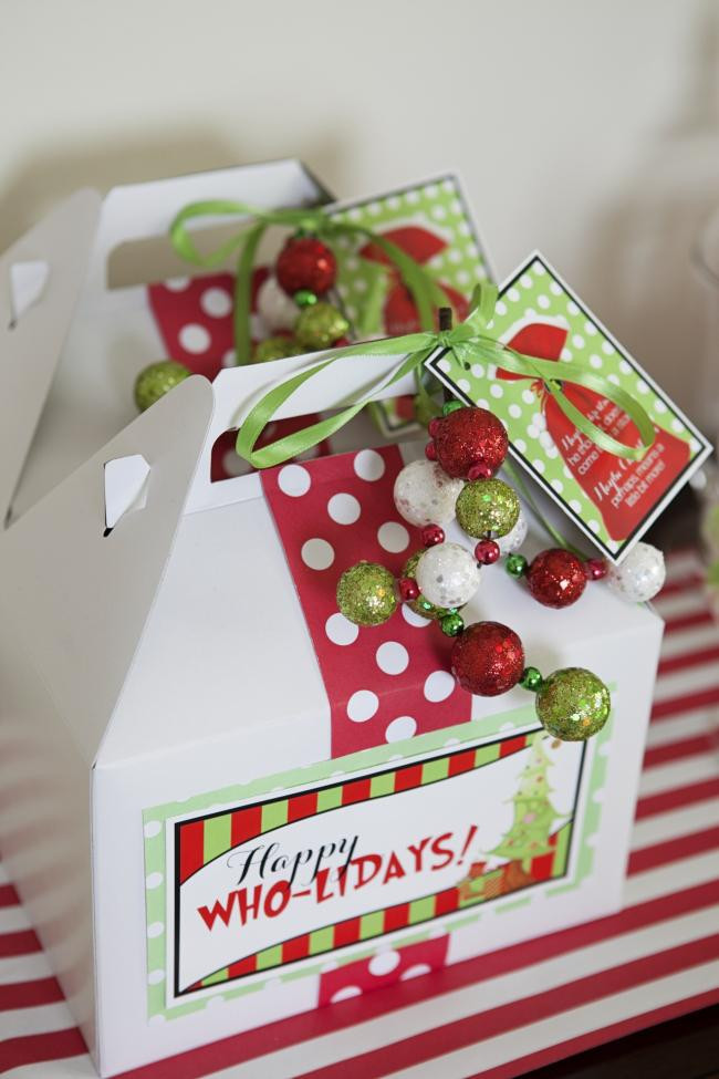 Holiday Party Gift Ideas  A Grinch Inspired Christmas Party Spaceships and Laser Beams