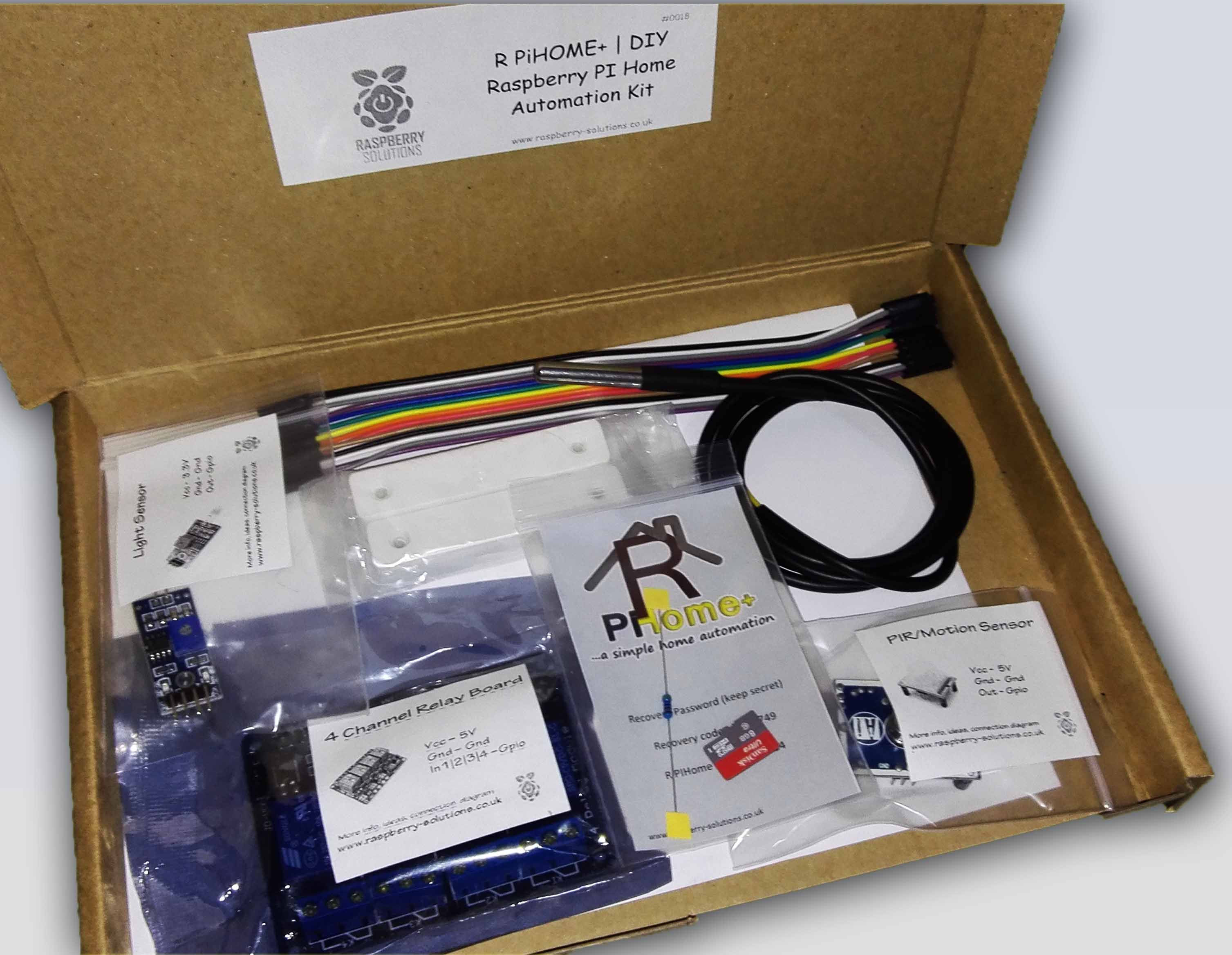 Home Automation DIY  Raspberry PI Home Automation Kit