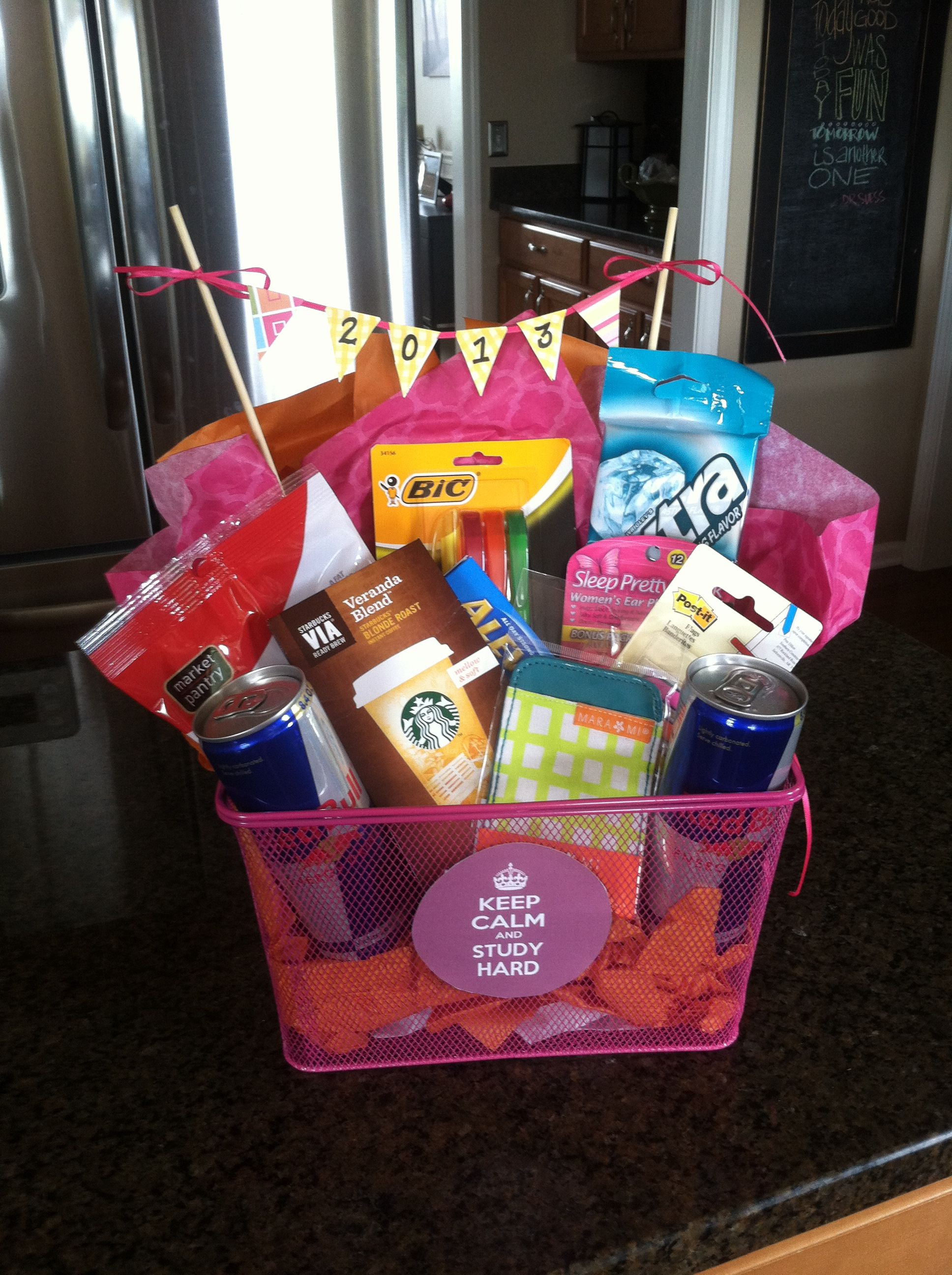 Homemade Graduation Gift Basket Ideas  f to college t basket study t basket graduation