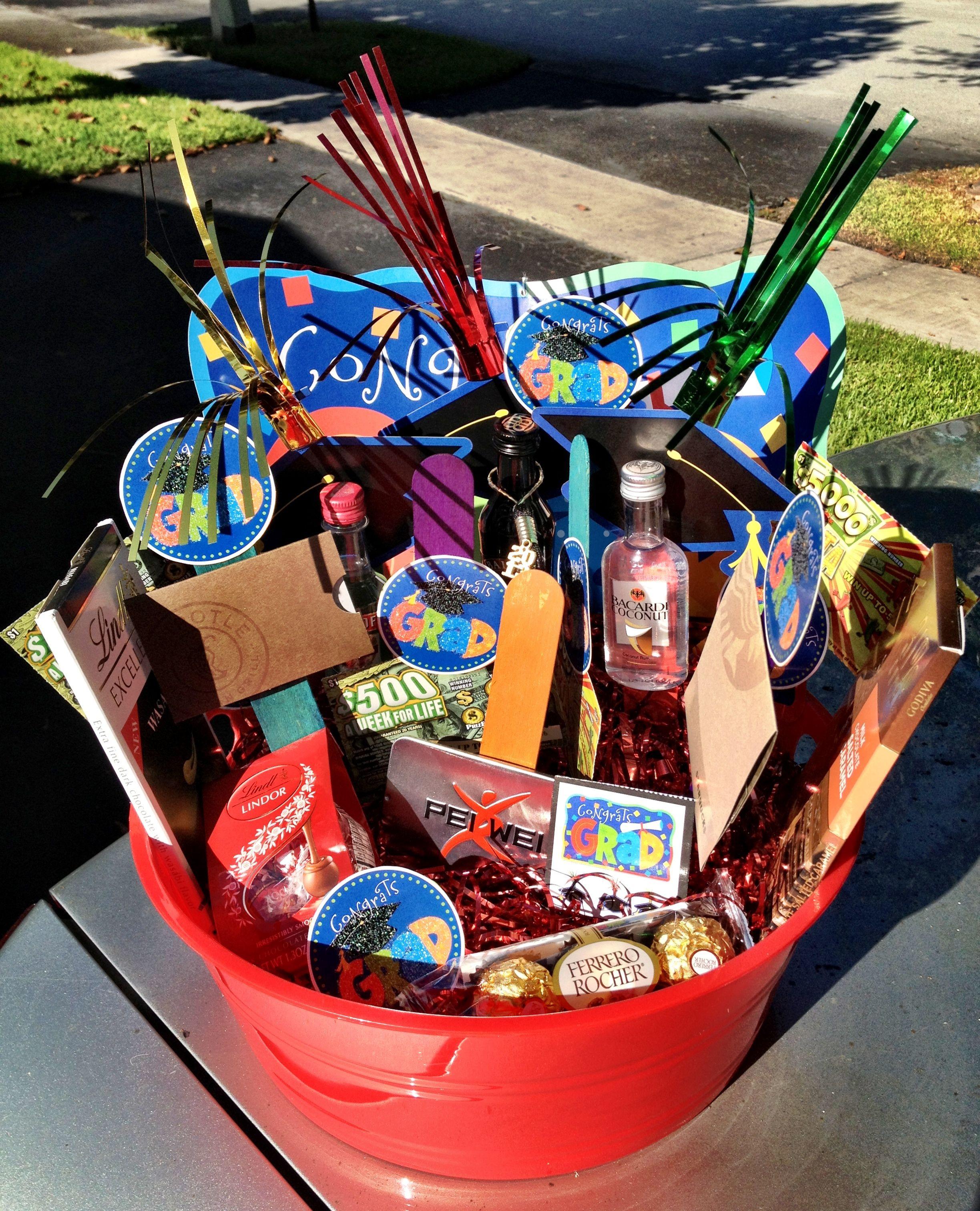 Homemade Graduation Gift Basket Ideas  graduation t basket DIY decorative basket floral