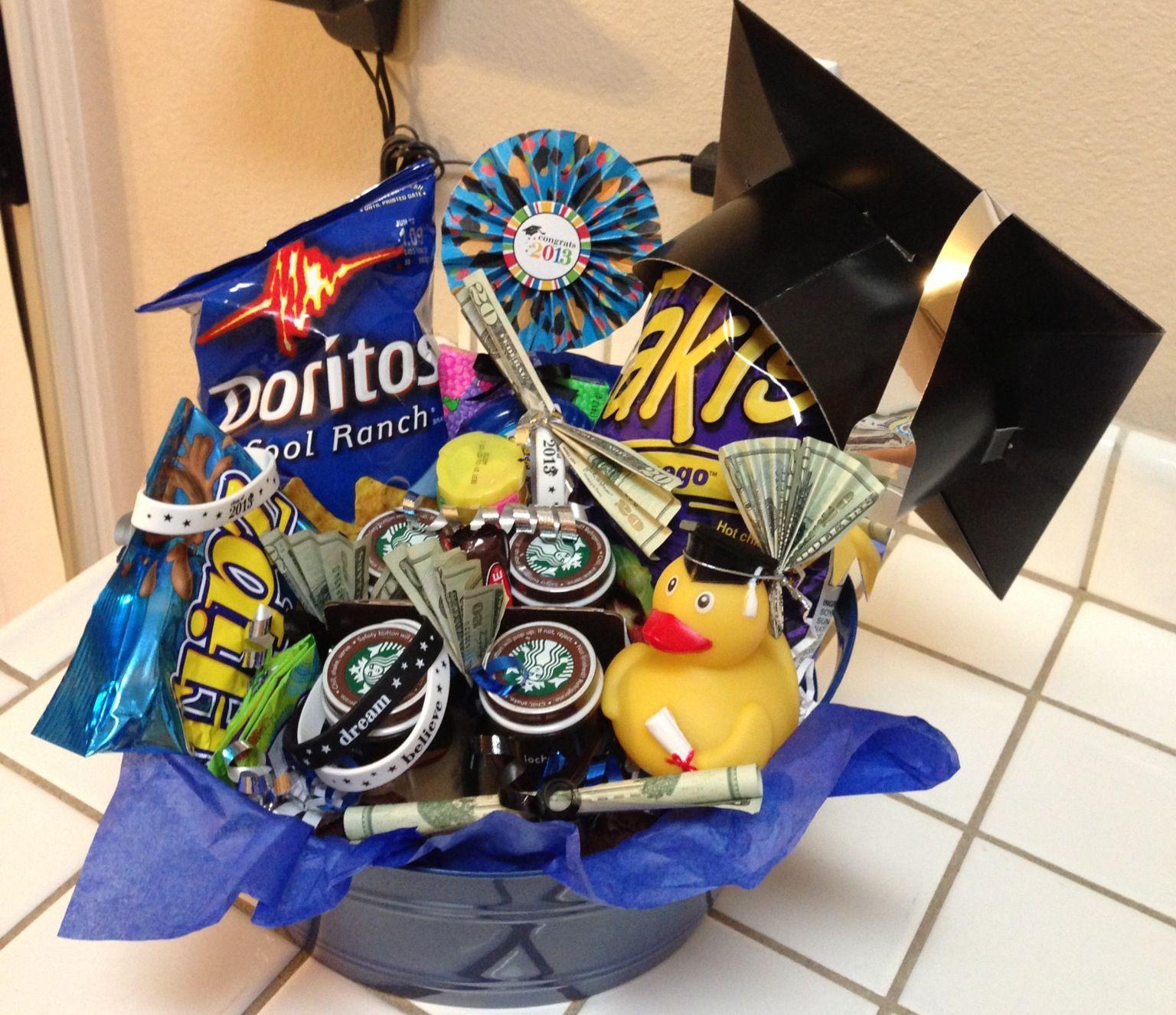 Homemade Graduation Gift Basket Ideas  Graduation t basket for 8th grader
