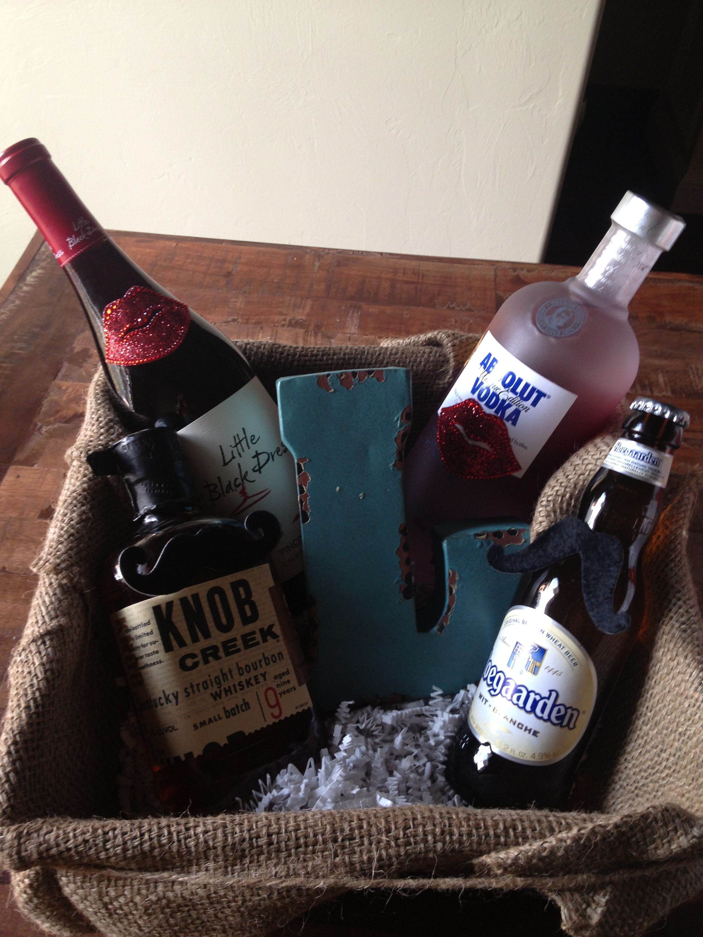 Host Gift Ideas For Couples  Stock the bar t Perfect for couples showers