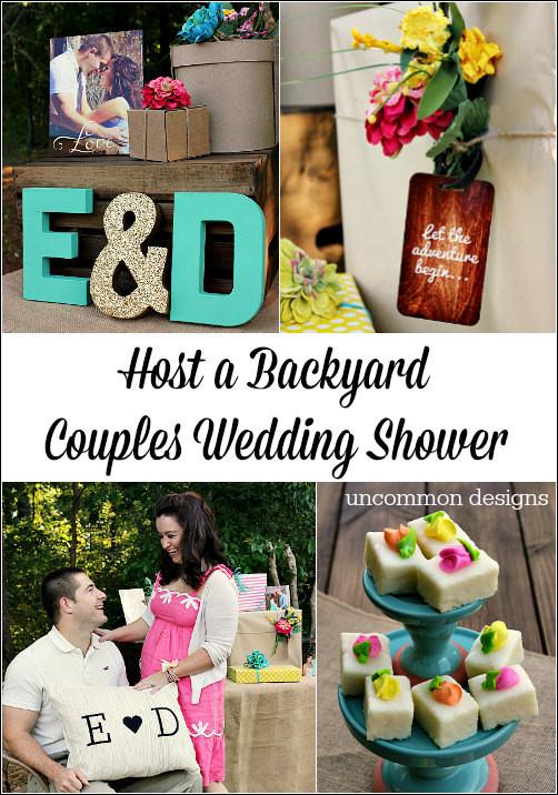 Host Gift Ideas For Couples  Backyard Couples Wedding Shower Un mon Designs