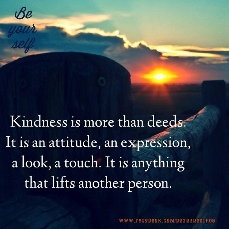 Human Kindness Quotes  Kindness is more than deeds
