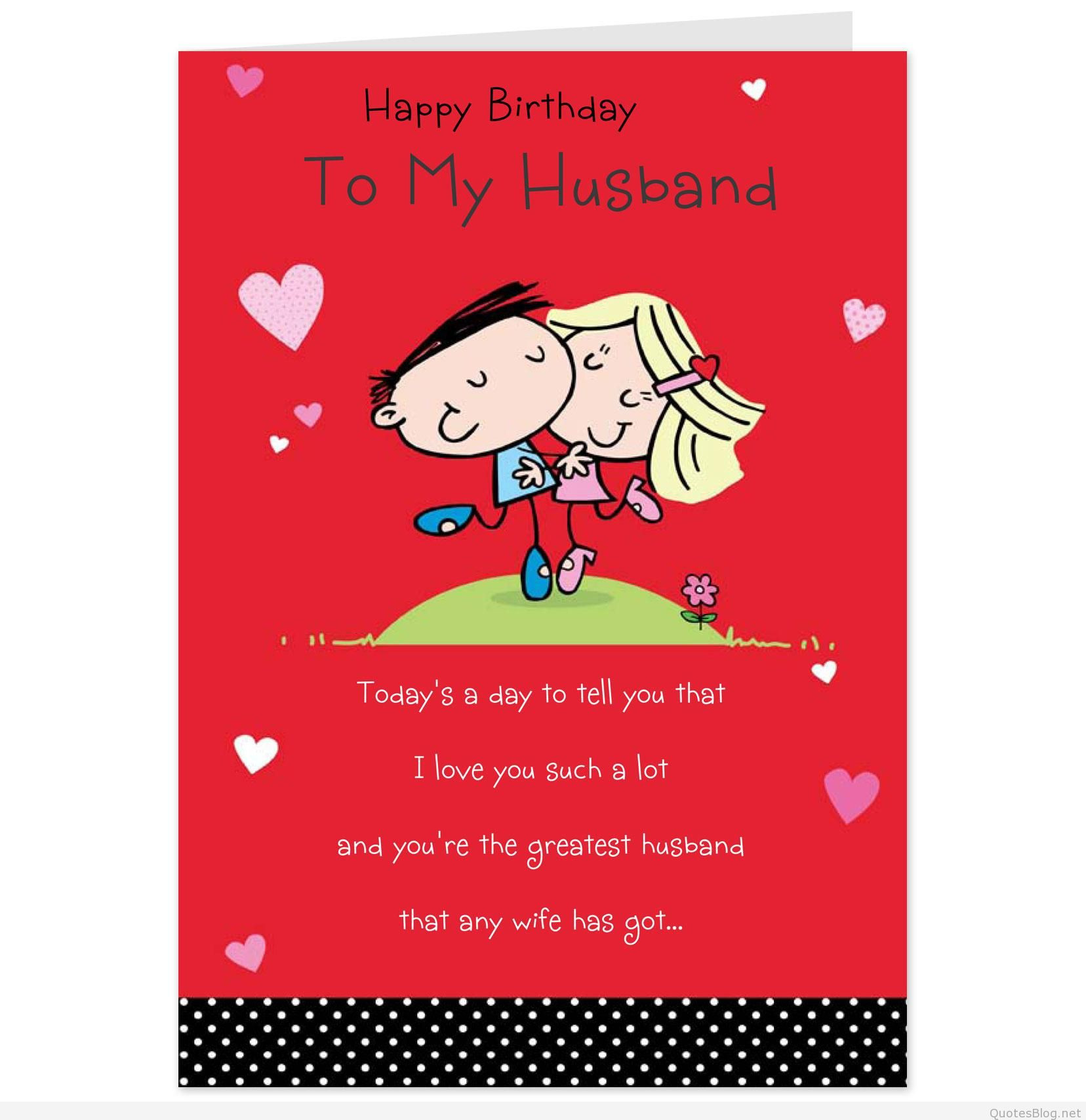 Husband Birthday Card Messages  Romantic Birthday Love Messages
