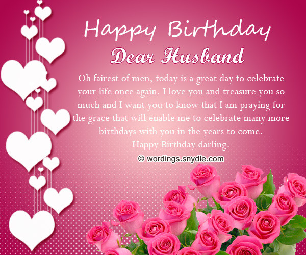Husband Birthday Card Messages  Birthday Wishes for Husband Husband Birthday Messages and