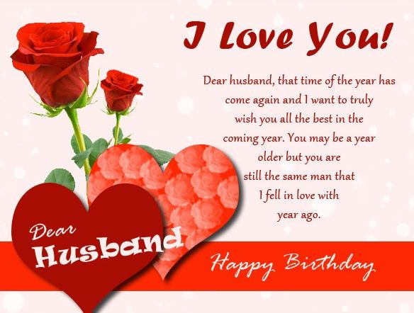 Husband Birthday Card Messages  Romantic birthday wishes for husband Birthday messages