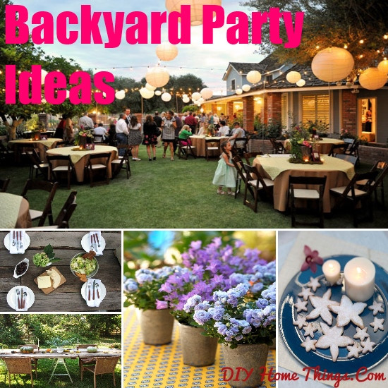 Ideas For Backyard Party  Innovative Backyard Party Ideas