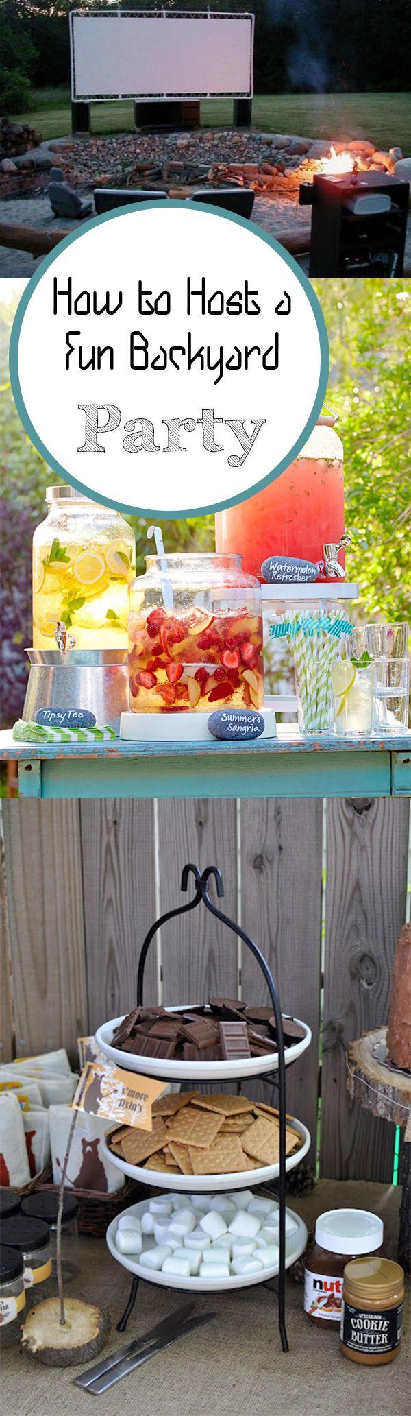 Ideas For Backyard Party  Backyard Parties on Pinterest