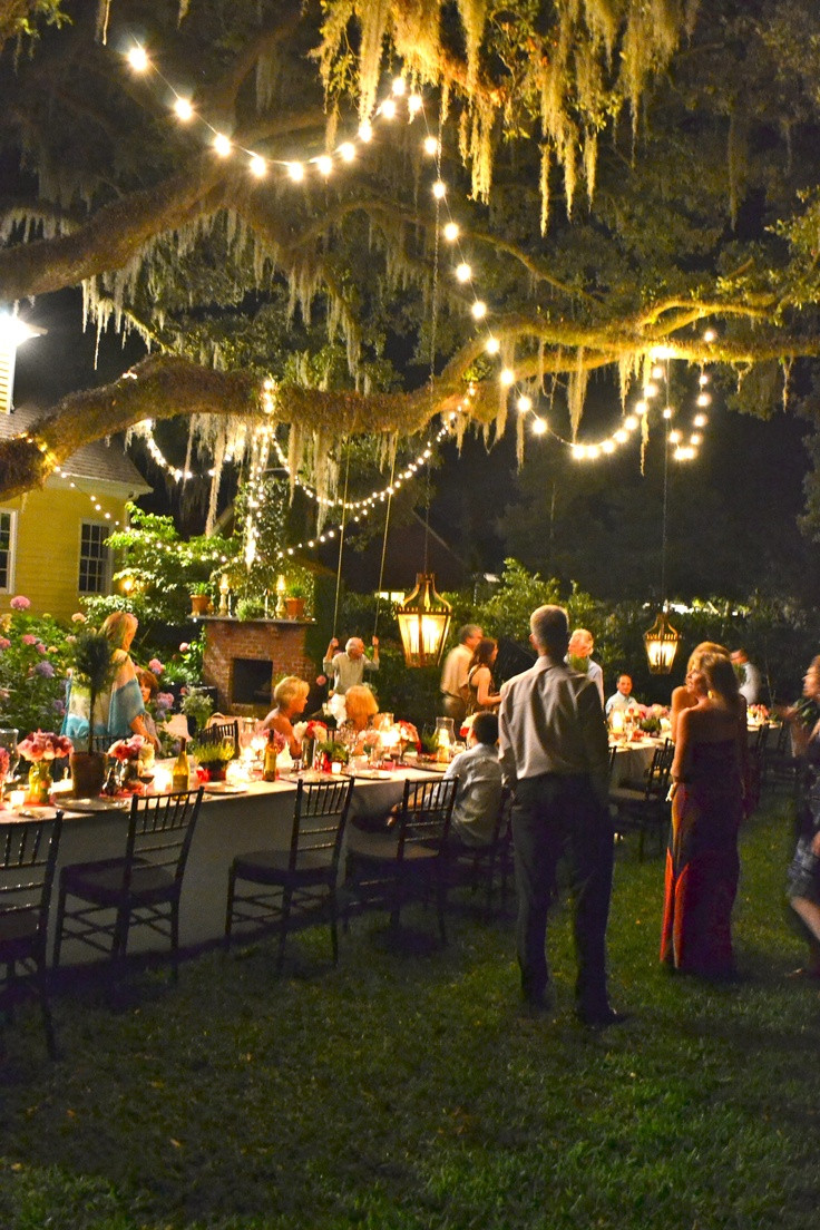 Ideas For Backyard Party  25 best ideas about Outdoor dinner parties on Pinterest
