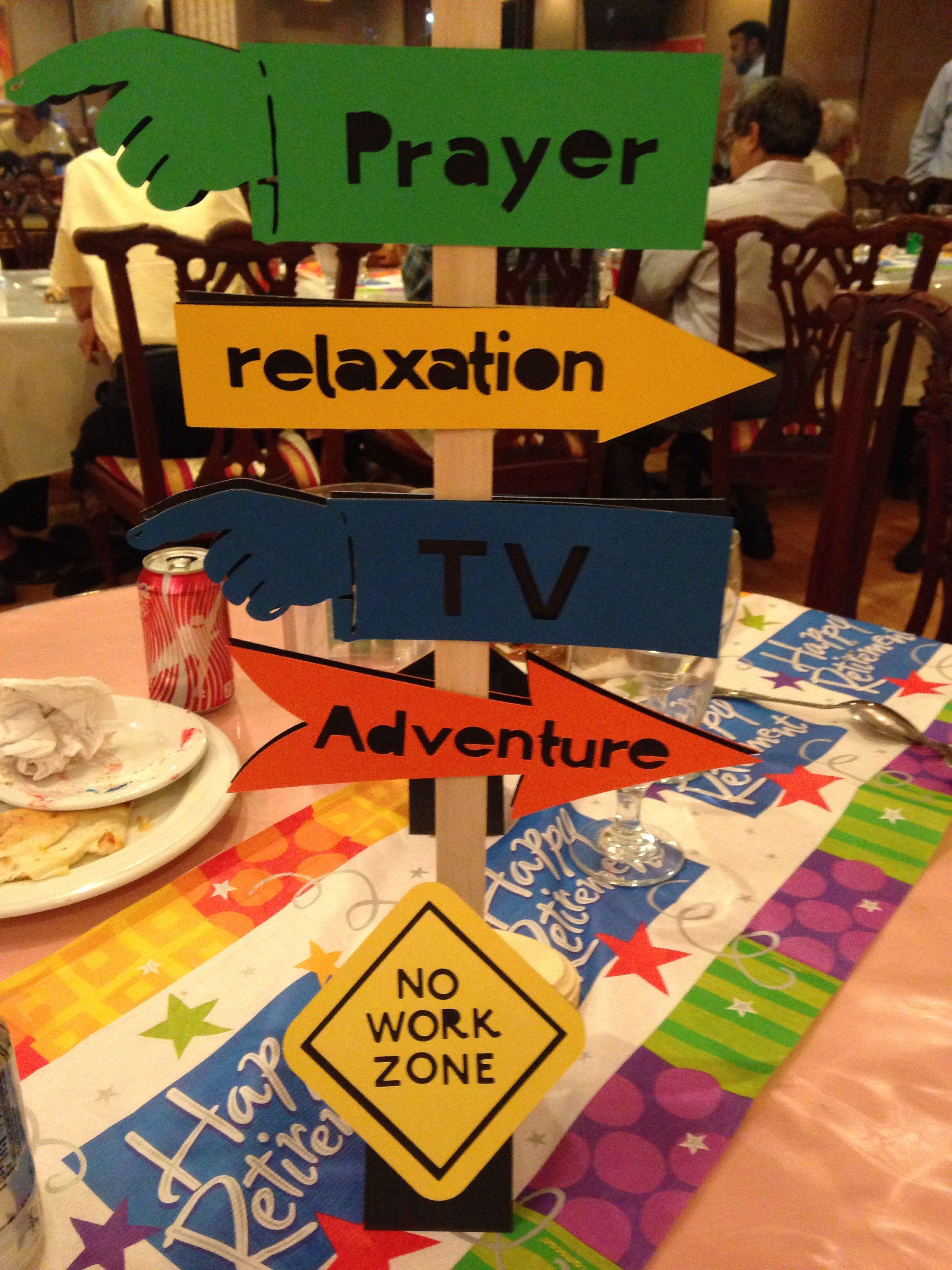 Ideas For Retirement Party  Retirement party centerpiece Centerpieces