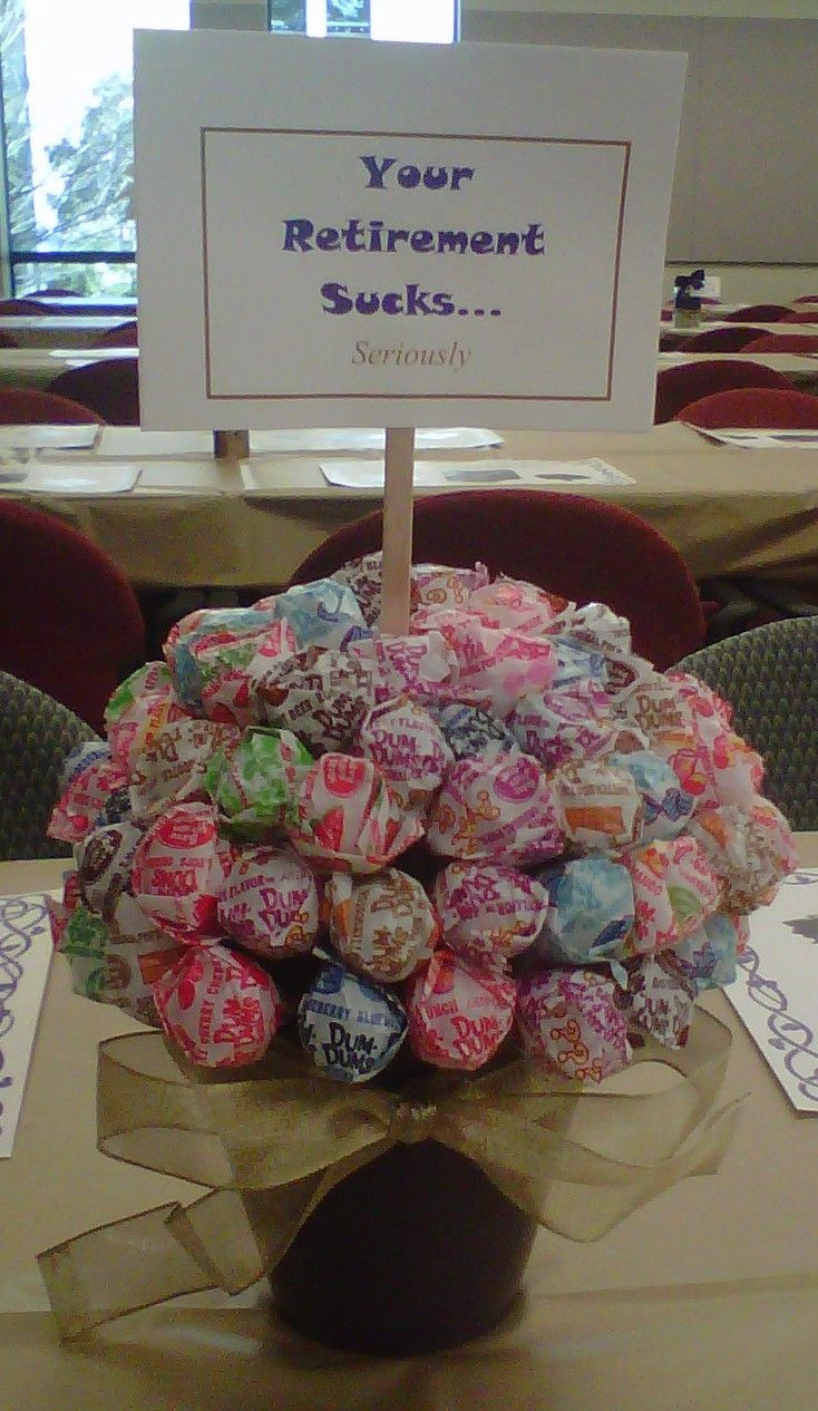 Ideas For Retirement Party  DIY Centerpiece I did for a co worker s Retirement Party