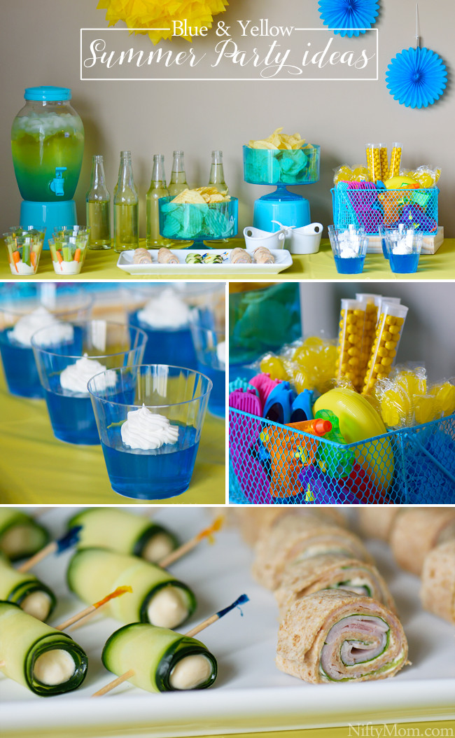 Ideas For Summer Party  Blue & Yellow Indoor Summer Party Ideas