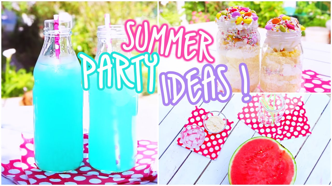 Ideas For Summer Party  Summer Party Ideas Snacks & Beverages ♥