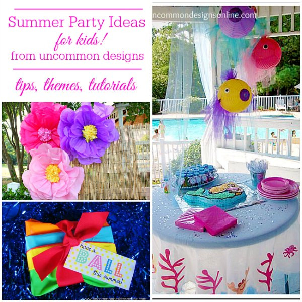 Ideas For Summer Party  Summer Party Ideas for Kids Un mon Designs
