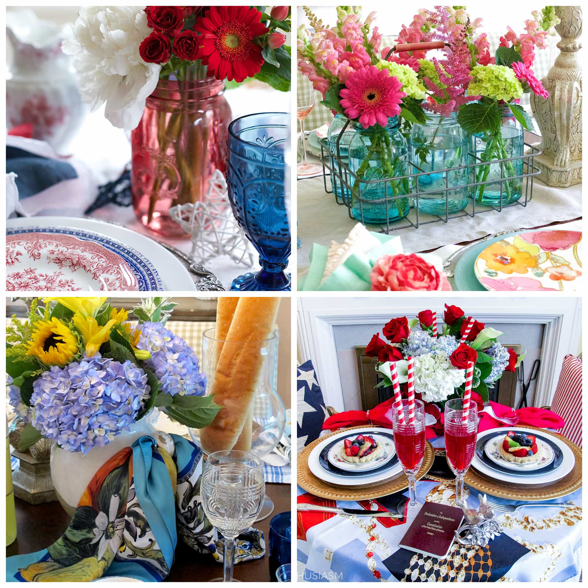 Ideas For Summer Party  Summer Party Decorations 6 Colorful Tablescape Ideas