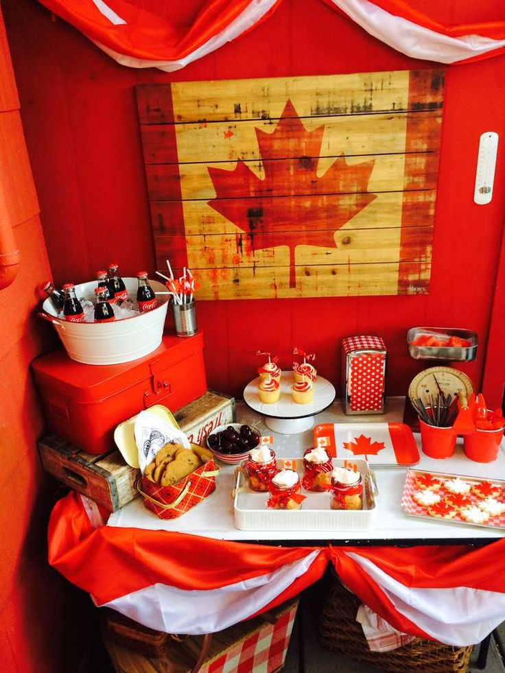 International Dinner Party Ideas  Best 25 Canada day party ideas on Pinterest
