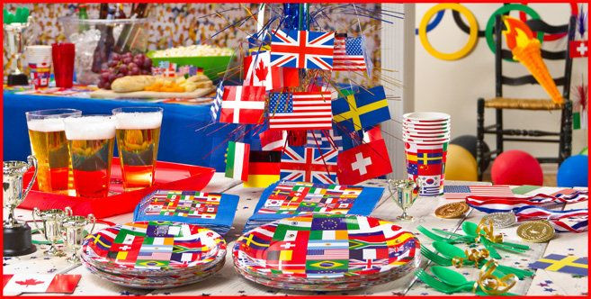 International Dinner Party Ideas  International Flag Party Supplies Party City