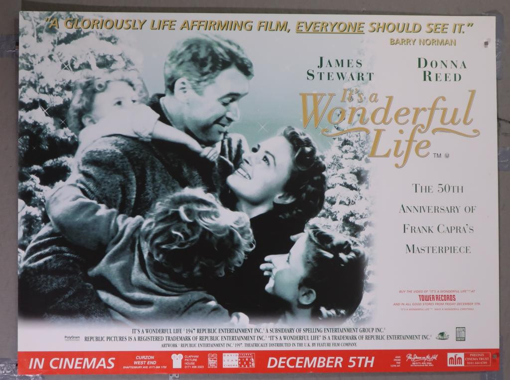 It'S A Wonderful Life Quotes  It s a Wonderful Life Vintage Movie Poster at SimonDwyer