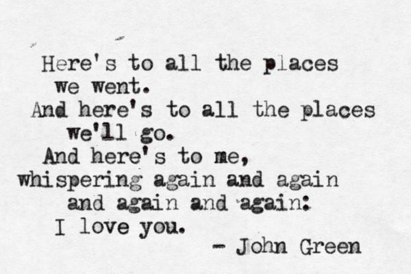 John Green Love Quotes  John Green