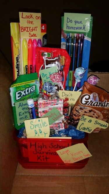 Jr High Graduation Gift Ideas  High school survival kit some cute ideas to include in a
