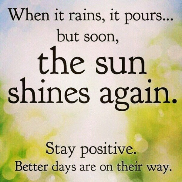 Keeping Positive Quote  stay positive