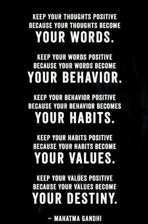 Keeping Positive Quote  Keep your thoughts POSITIVE